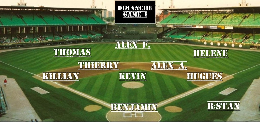 line up teddy dimanche game1